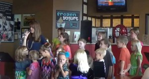 """Put a Little Love in Your Heart"" Lori & Homeschool Choir at Java Gounds, Intros & Happy Birthday"